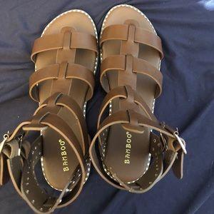 NWOT brown gladiator sandals